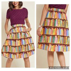 ModCloth NWT Flit and Flirt A-Line Skirt - Library